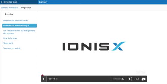 L'interface apprenant IONISx