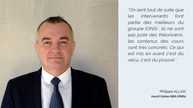 Témoignage Philippe ALLAIX - inscrit Online MBA IONISx